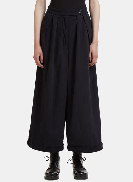 Story Mfg. Bridge Wide Leg Twill Pants