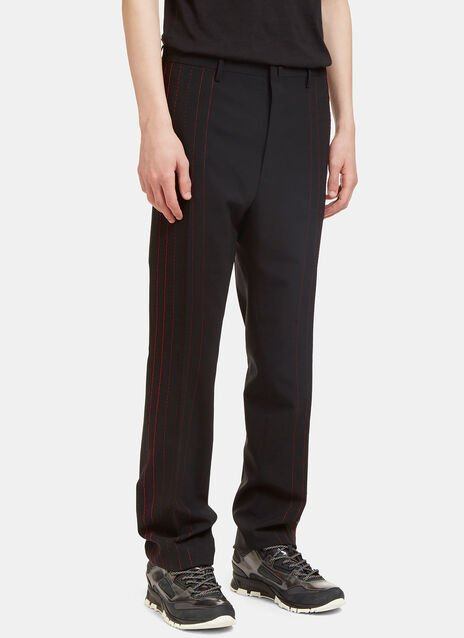Contrast Stitched Seam Pants