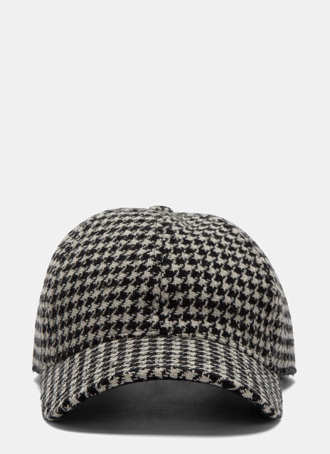 Houndstooth Tweed Cap