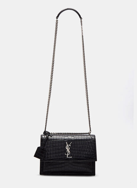Sunset Faux Crocodile Crossbody Bag