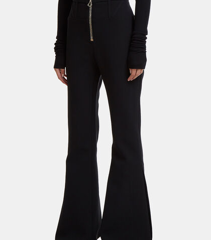 Janis Corset Zip-Up Flared Pants