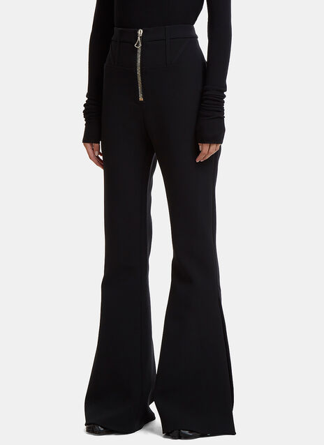 Ellery Janis Corset Zip-Up Flared Pants