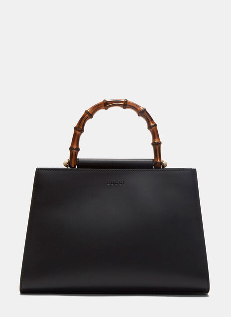 Angel Nymphaea Leather Top Handle Bag