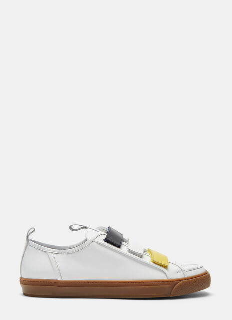 Tricolore Strap Low-Top Sneakers