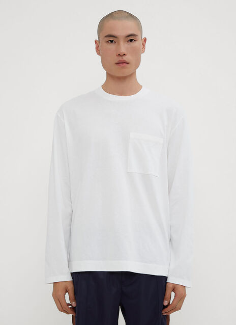 Our Legacy Long Sleeve Army T-Shirt in White