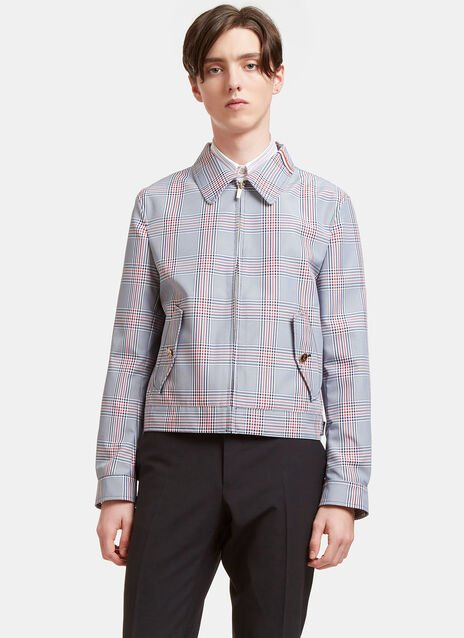 Gingham Checked Jacket