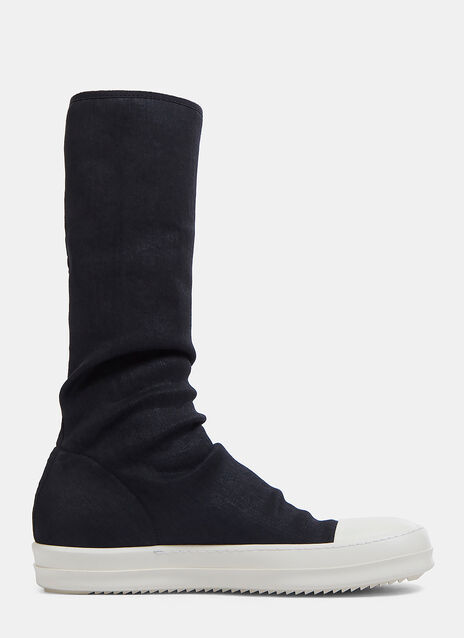 Denim Calf-Length Sock Sneakers