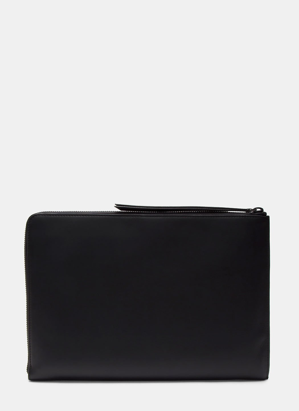 FENDI Men'S Grace Zipped Leather Document Case In Black