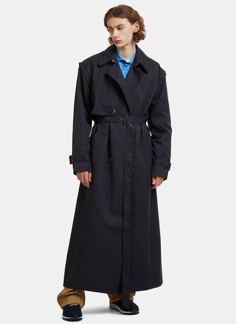 Long Length Detachable Sleeves Classic Mac Coat