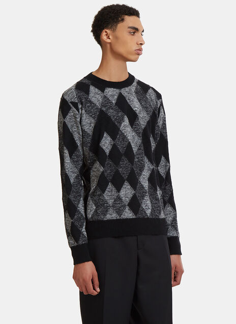 Argyle Jacquard Knit Sweater