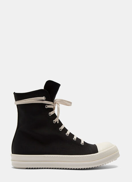 High-Top Embroidered Sneakers