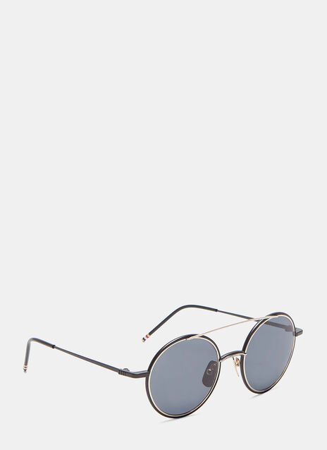 Round Aviator Front Frame Sunglasses