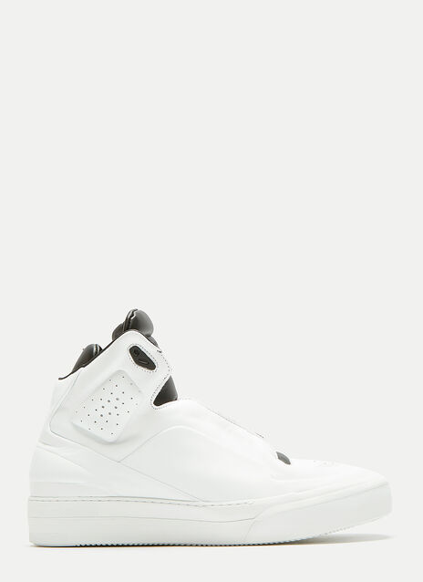 Two-Tone High-Top Sneakers