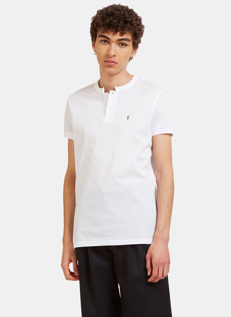 Collarless Polo Shirt