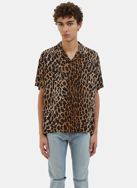 Leopard Print Short Sleeved Shirt