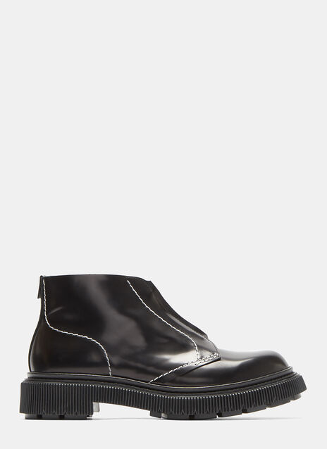 Type 104 Zipped Creeper Ankle Boots