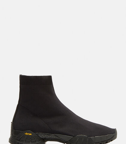 Knit Hiking Boots in Black