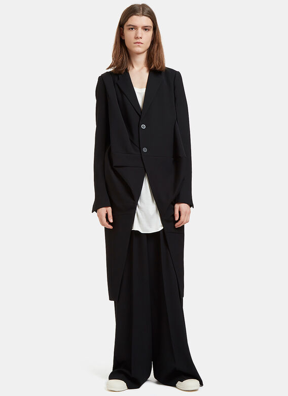 Rick Owens Orchid Single-Breasted Draped Coat