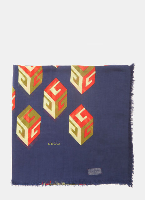 GG Wallpaper Print Modal Silk Shawl