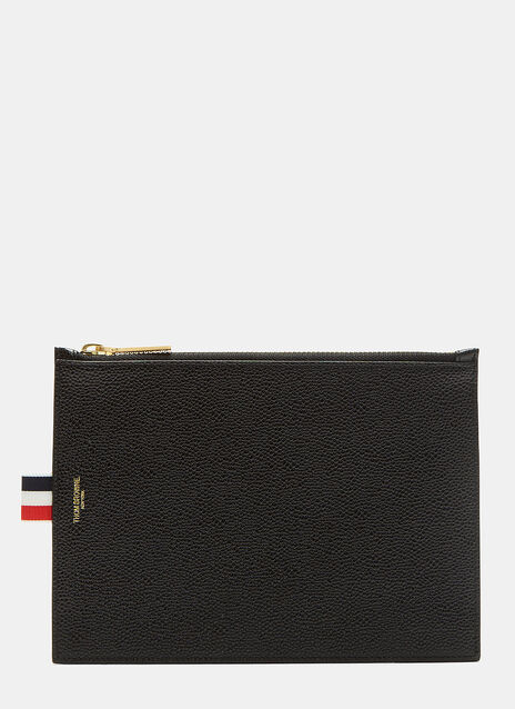 Large Pebble Grained Zipped Wallet