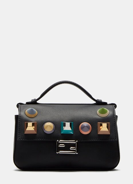 Micro Baguette Geometric Studded Double-Sided Bag