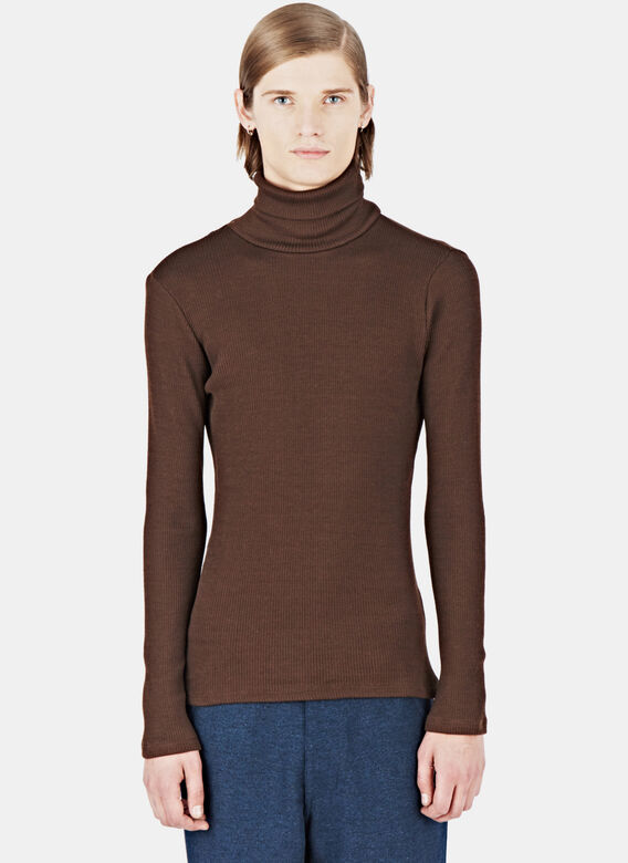 Raf Simons Ribbed Roll Neck Sweater