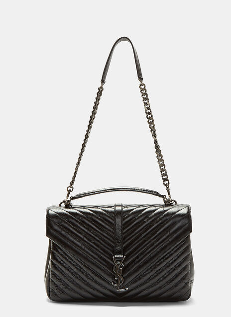 Saint Laurent Large Quilted College Bag