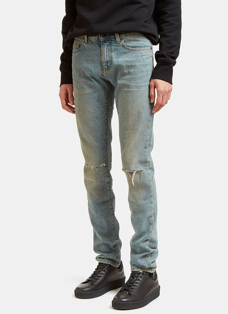 Low Waisted Washed Jeans
