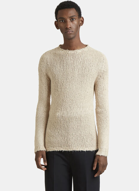 Rick Owens Round Neck Silk Knit Sweater