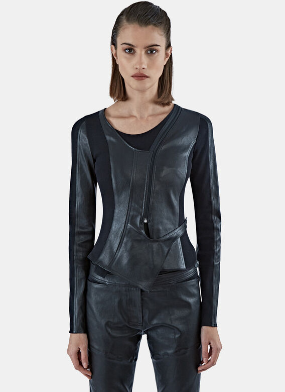 Paco Rabanne Stretched Leather Kjacket