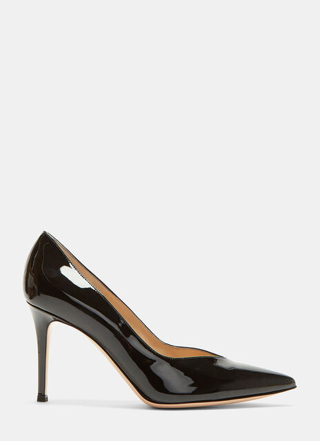 Paris 85  Deep-Cut Heeled Patent Pumps