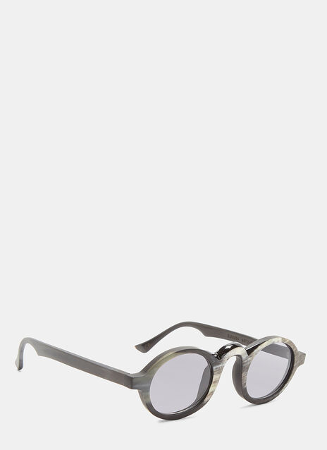 RG0054 Horn Oval Sunglasses