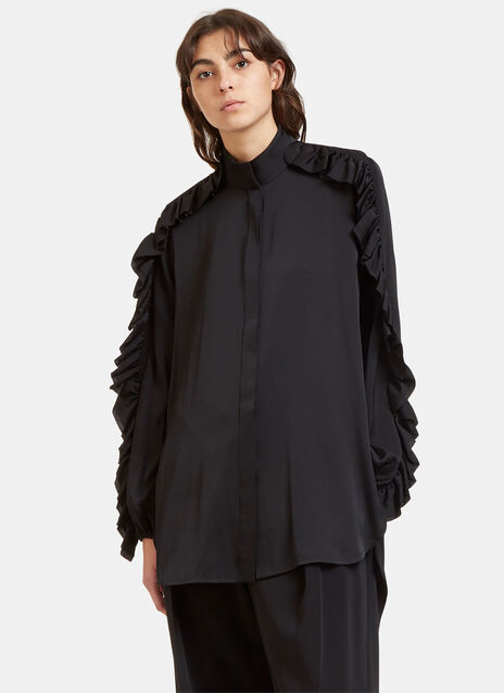 Audacity Ruffled Silk Shirt