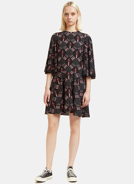 Love Blade Long Sleeved Silk Dress