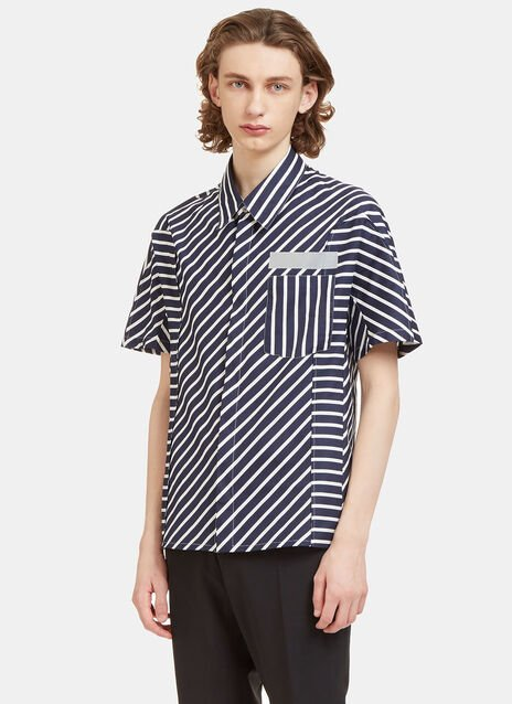 Mixed Stripe Short Sleeved Shirt