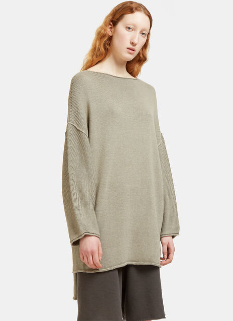 Oversized Dolman Sleeved Knit Sweater