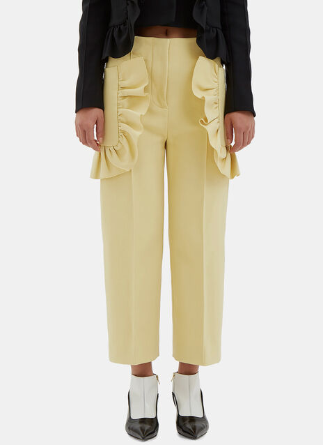 Frilled Crepe Culottes