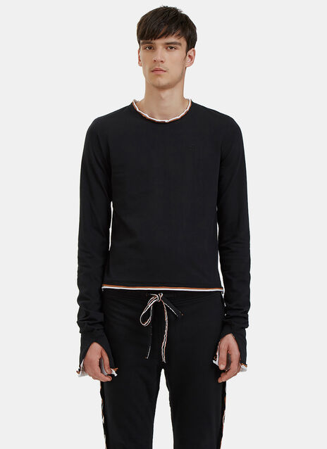 Raw Layered Long Sleeved Top