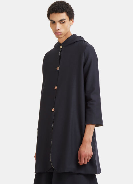 Mid-length Hooded Double-Layered Jacket
