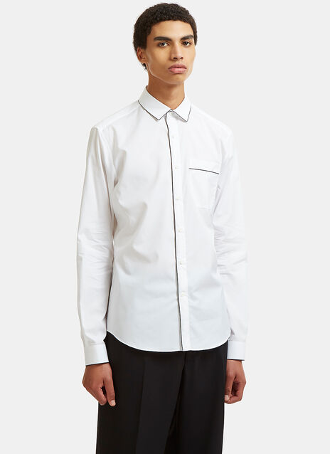 Contrast Piped Poplin Shirt