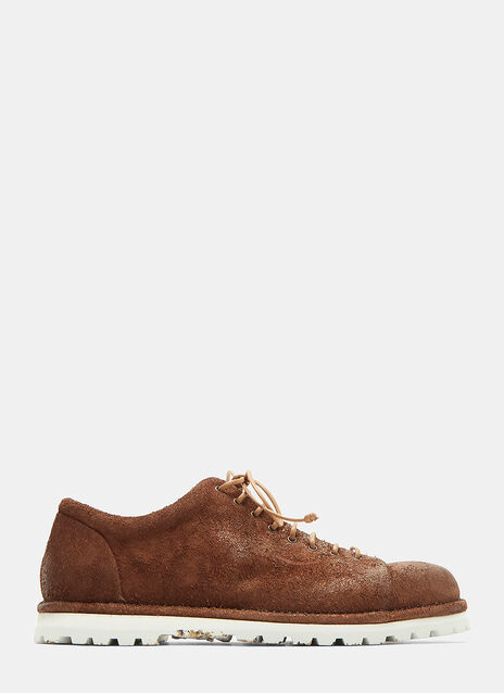 Pallottola Spalla Rovescio Suede Lace-Up Shoes