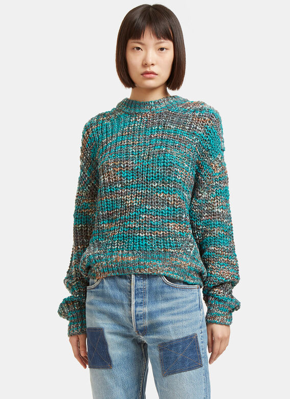 Acne Zora Oversized Multi Knit Sweater
