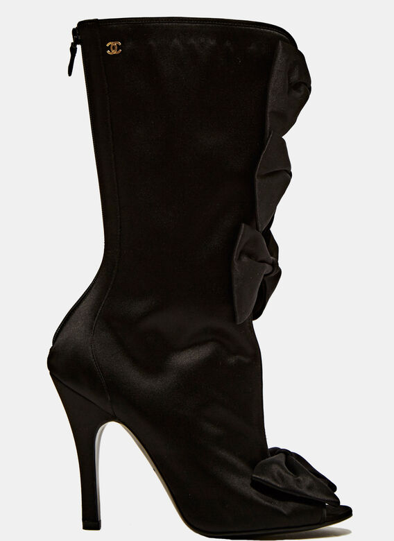 Chanel High Bow Boots