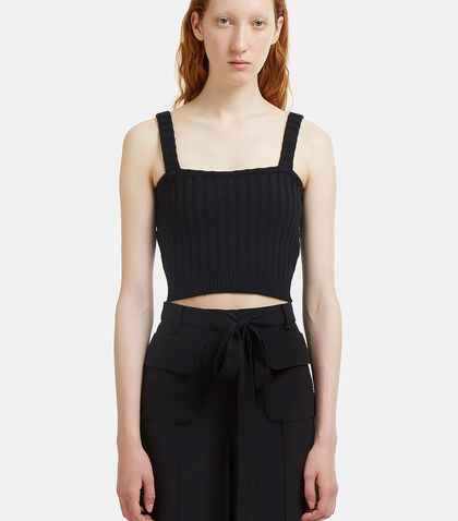 Cropped Ribbed Knit Top