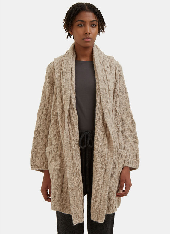 Lauren Manoogian Cable Knitted Cardigan