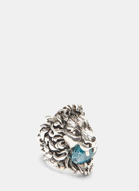 Lion Head Crystal Ring