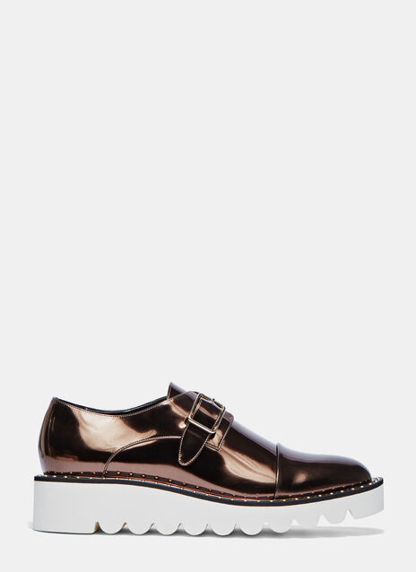 Odette Metallic Brogue Shoes