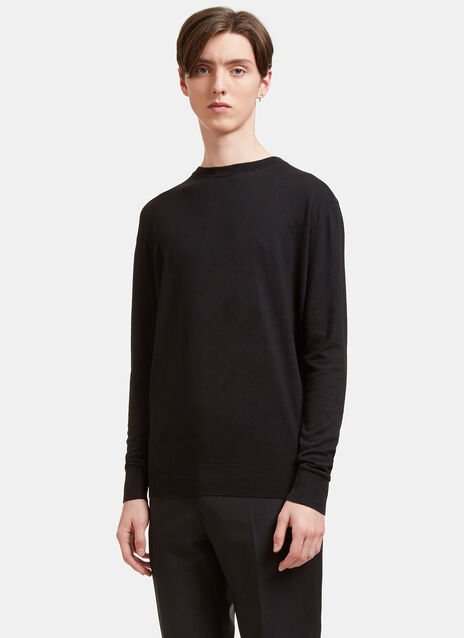 AIEZEN Cashmere and Silk Knit T-shirt