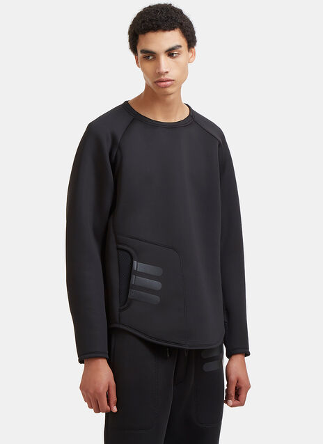 Technical Mesh Panelled Neoprene Sweater