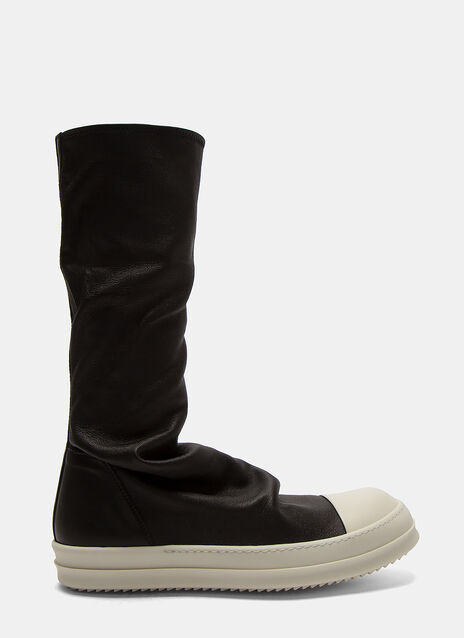 Long Leather Sock Sneakers